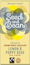 Seed & Bean Organic Lemon & Poppy Seed White Chocolate 85g